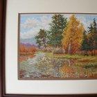 Malování jehlou - Podzimní krajinka