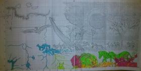 28.9.2013 - ukážka ako si kreslím do predlohy (ofotenej)