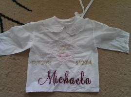 29.12.2013 - krstná košielka pre neterku Michaelu - vypraté